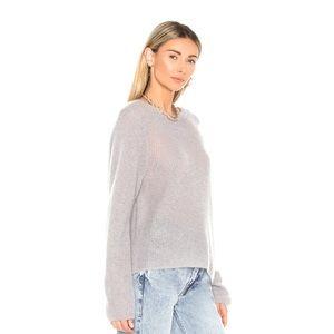 Vince Women Stone Grey Oversized Sweater Size L